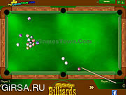 Флеш игра онлайн Бильярд Мультиплейер
