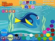 Флеш игра онлайн Finding Nemo - Paper Toys