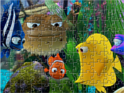 Флеш игра онлайн Рыбка Немо. Мозайка / Nemo Fish Jigsaw