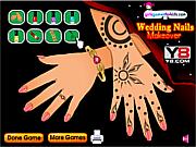 Флеш игра онлайн Новые Свадебные Ногти Макияж / New Wedding Nails Makeover