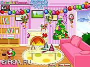 Флеш игра онлайн Новогодний Декор / New Year Room Decor