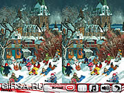 Флеш игра онлайн Новогодняя сказка 5 различия / New Year's Fairy Tale 5 Differences