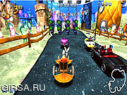 Флеш игра онлайн Nick Racers Revolution
