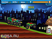 Флеш игра онлайн Ниндзя на джипе / Ninja Monster Trucks