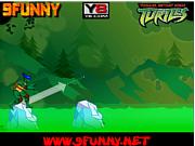 Флеш игра онлайн Ninja Turtle Ultimate Challenge