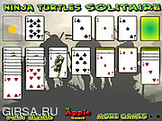 Флеш игра онлайн Ninja Turtles Solitaire