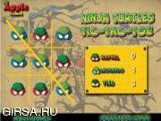 Флеш игра онлайн Черепашки Ниндзя Крестики-Нолики / Ninja Turtles Tic-Tac-Toe