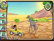 Флеш игра онлайн Африканское спасение Диего внедорожный
