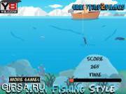 Флеш игра онлайн Old Man Fishing Styles