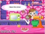 Флеш игра онлайн Готовим земляничный пирог / Orange Glazed Strawberry Cupcakes Game