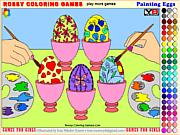 Флеш игра онлайн Цветные яйца