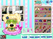 Флеш игра онлайн Побаловать себя в салоне собак / pampered dog salon