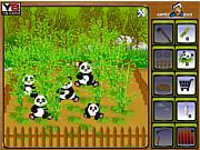 Флеш игра онлайн Ферма с пандами