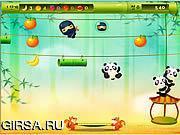 Флеш игра онлайн Панда Прыжок / Panda Jump