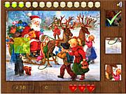 Флеш игра онлайн Санта. Пазл