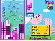 Флеш игра онлайн Тетрис с свинкой Пеппой