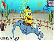 Флеш игра онлайн Кальсоны Spongebob квадратные: Бич западного решающего сражения