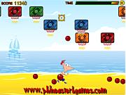 Флеш игра онлайн Пляжный спорт Финеса и Ферба / Phineas and Ferb Beach Sport
