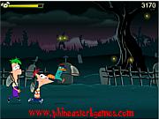 Флеш игра онлайн Финес и Ферб и светлячки / Phineas and Ferb Lightning Bug