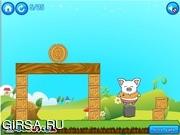 Флеш игра онлайн Посадка деревьев / piggy landing