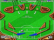 Флеш игра онлайн Пинбол Футбол