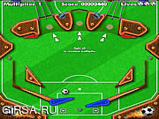 Флеш игра онлайн Пинбол Футбол / Pinball Football