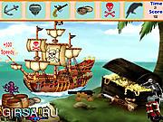 Флеш игра онлайн Найти предметы - Пиратский остров