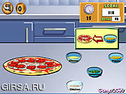 Флеш игра онлайн Готовим Пиццу / Cooking Show - Pizza