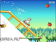 Флеш игра онлайн Медведь на сноуборде