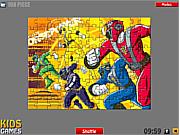 Флеш игра онлайн Влиятельные рэйнджеры. Пазл / Power Rangers Puzzle