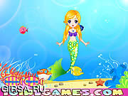 Флеш игра онлайн Принцесса русалочка - одевалки / Pretty Little Mermaid Princess