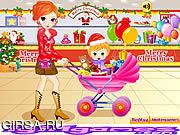 Флеш игра онлайн Мама и Ребенок на Шоппинге / Pretty Shooping Mom and Baby