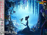 Флеш игра онлайн Princess and the Frog Hidden Alphabets