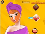 Флеш игра онлайн Макияж для принцессы Бель / Princess Belle Facial Makeover