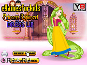 Флеш игра онлайн Принцесса Рапунзель