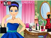 Флеш игра онлайн Накрась Принцессу / Prom Princess Make over