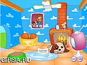 Флеш игра онлайн Doghouse звезды щенка