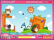 Флеш игра онлайн Puppyred Cannonball