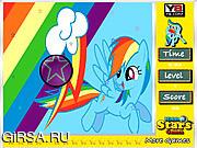 Флеш игра онлайн Радуга. Скрытые звезды / Rainbow Dash Hidden Stars