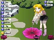 Флеш игра онлайн Дождливый школьный день / Rainy School Day