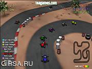 Флеш игра онлайн Красный картинг