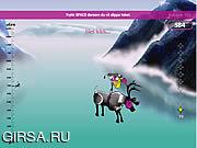 Флеш игра онлайн Скакать северного оленя / Reindeer Jumping