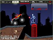 Флеш игра онлайн Приключения на грузовике