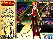 Флеш игра онлайн Rockstar DressUp 2