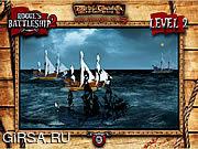 Флеш игра онлайн Пираты Карибского моря - линкоры негодяев, 2 / Pirates of the Caribbean - Rogue's Battleship 2