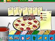 Флеш игра онлайн Делаем пиццу Рольфа