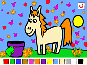 Флеш игра онлайн Розалин / Rosalyn's Animal Coloring
