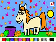 Флеш игра онлайн Rosalyn's Animal Coloring
