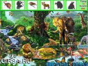 Флеш игра онлайн Найти предметы  - Сафари животные / Safari Animals Hidden Object