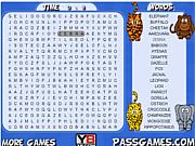 Флеш игра онлайн Животные Сафари / Safari Animals Word Search